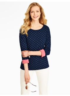 Polka-Dot Double-Face Tee