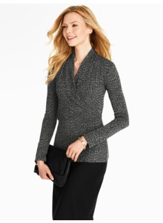 Pebble Jacquard Wrap Top