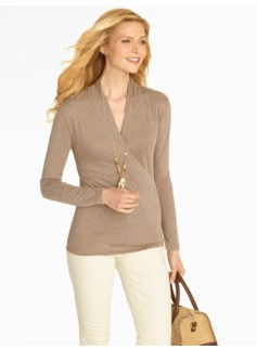 Surplice-Wrap Top