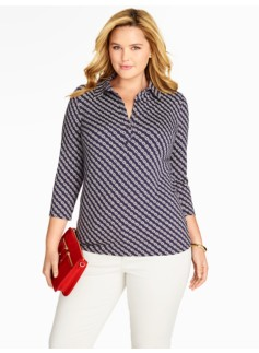 Chain-Link Stripe Polo