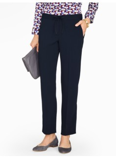 Relaxed Crepe Ankle Pants