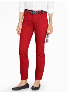 Washed Sateen Ankle Pant - Curvy