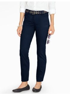 Washed Sateen Straight Leg Pant - Curvy