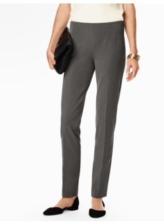 Refined Bi-Stretch Side-Zip Straight Leg