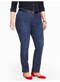 The Flawless Five-Pocket Straight Leg Jeans - Delta Blue