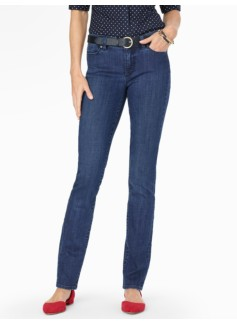 The Flawless Five-Pocket Straight Leg Jeans/Delta Blue