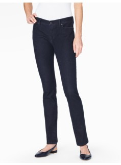 The Flawless Five-Pocket Straight Leg Jeans - Deep Sea