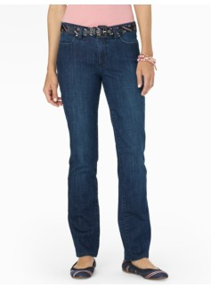 The Flawless Five-Pocket Straight Leg Jeans/Curvy Delta Blue