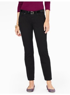 The Flawless Five-Pocket Ankle Jean - Curvy/Black