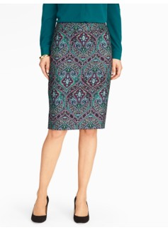 Elegant Paisley Pencil Skirt