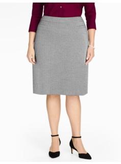 Herringbone Jacquard A-Line Skirt