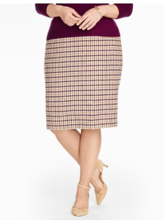 Classic Check Pencil Skirt