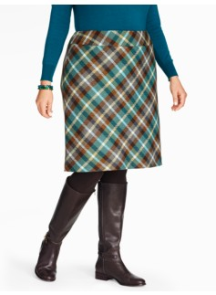 Berkshire Plaid A-Line Skirt