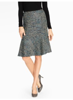 Fancy Tweed Fluted Skirt
