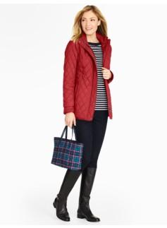 Three-Quarter-Length Quilted Coat
