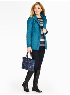 Three-Quarter-Length Quilted Coat