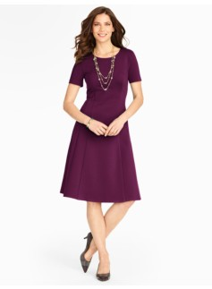 Refined Ponte Fit-And-Flare Dress
