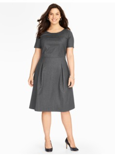 Italian Flannel Pleated Dress