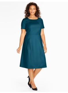 Pleated Italian Flannel Dress