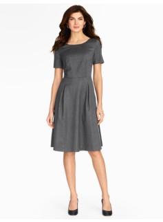Italian Flannel Pleated Dress