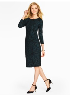Floral Jacquard Knit Dress