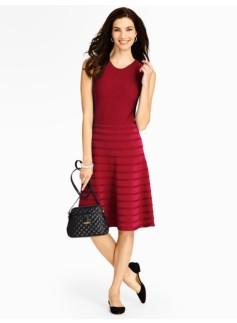 Stripe Back-Zip Sweater Dress