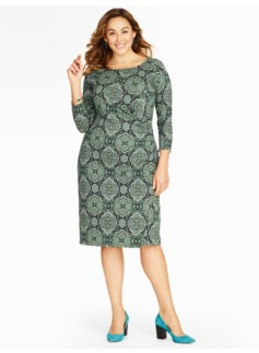 Flower-Medallion Print Dress