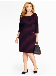 Stripe Cotton Interlock Dress