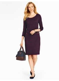Stripe Cotton Interlock Dress