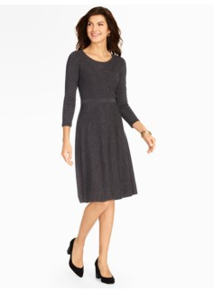 Mixed Rib & Jersey Sweater Dress