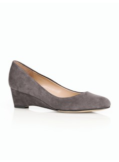 Porsha Suede Wedge-Heel Pumps