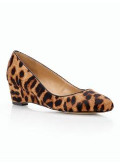 Porsha Leopard Haircalf Wedges
