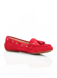 Easton Silk Suede Tassel Driving Moccasins