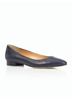 Edison Leather Pointy-Toe Flats