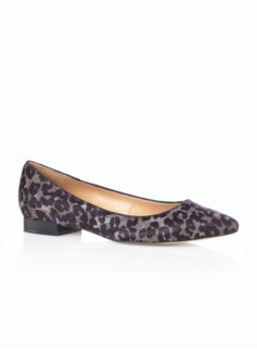 Edison Leopard Haircalf Pointy-Toe Flats