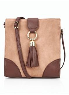 Kelsey Tassel Suede Crossbody Bag