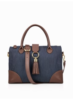 Denim & Leather Doctor Bag