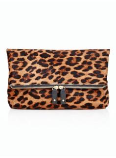 Leopard Haircalf Clutch
