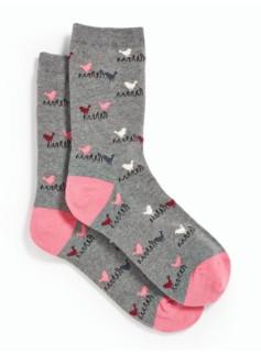 Dove-Intarsia Knit Trouser Socks