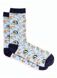 Floral Vine Trouser Sock