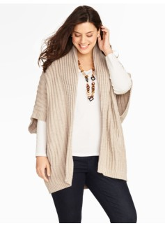 Womans Ribbed Poncho