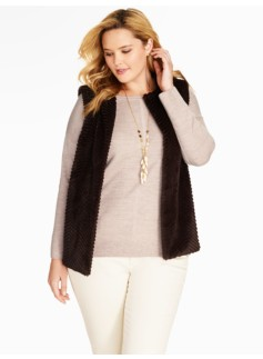 Womans Faux Fur Vest