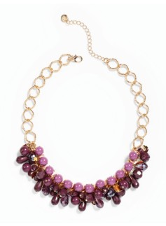 Cluster Bead Bib Necklace