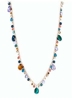 Mixed-Bead Drop Necklace
