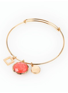 Cabochon Charm Bangle