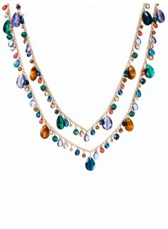 Multi-Bead Drop Necklace