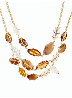 Autumn Leaves Collar Necklace