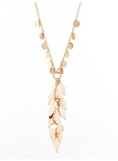 Prism & Disc Drop Necklace
