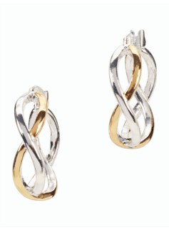 Double-Twist Hoop Earrings