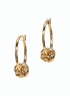 Gold Knot Hoop Earrings